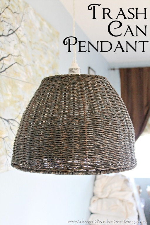 Make This Pendant Light With A Trash Can And A Light Kit... I. Lampshade  IdeasBasket IdeasLighting ...