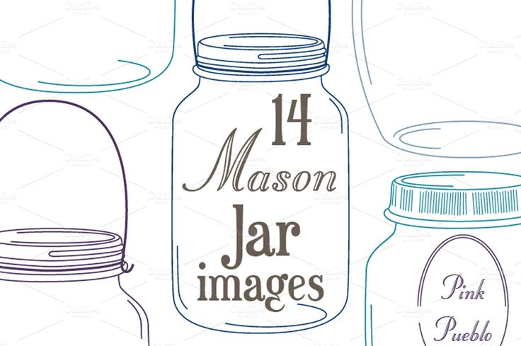 Mason Jars Clipart and Vectors | Jars, Creative and Masons