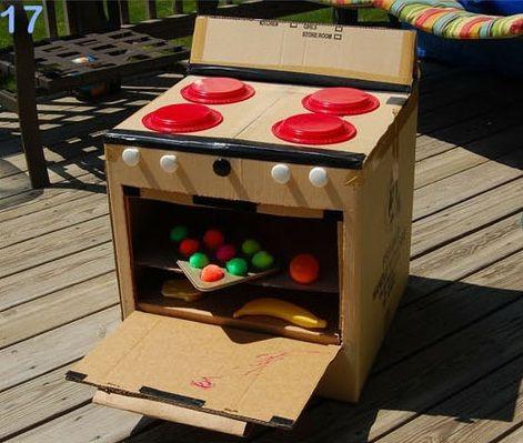 cocineta de carton  25 formas de reciclar cajas de cartón para que tus hijos se diviertan