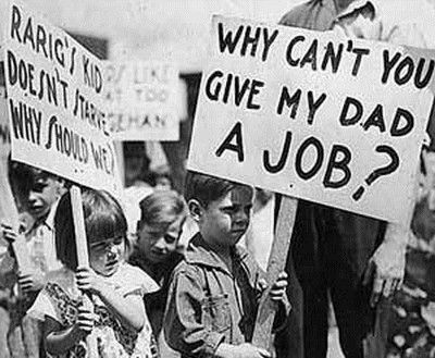 """6) """"If, with all the advantages I've had, I can't make a living, I'm just no good, I guess.""""  - An unemployed Texas schoolteacher, 1933  http://www.shmoop.com/great-depression/quotes.html"""
