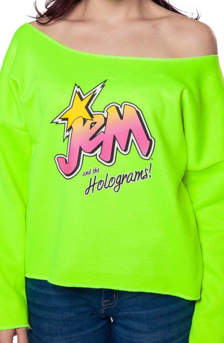 Neon Jem Cut Off Sweatshirt