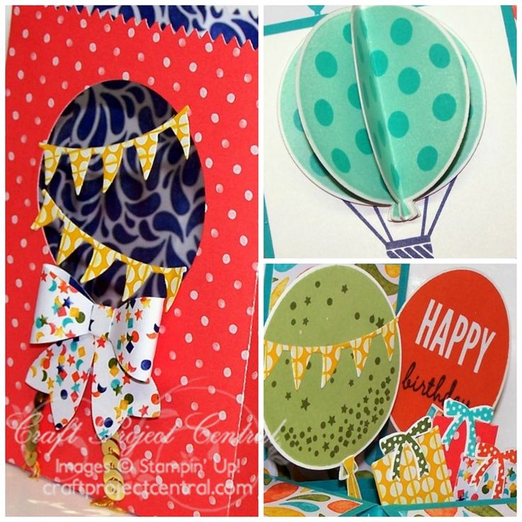 Stampin' Up! Balloon Bash Ensemble - Celebrate Today Stamp Set - Craft Project Central - Christy Fulk, Stampin' Up! Demo