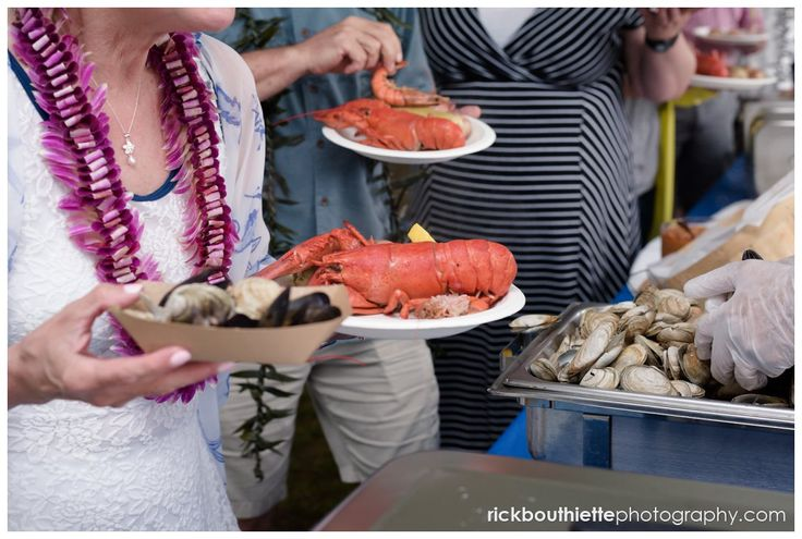 Maine lobster at a seacoast wedding catered by Fosters Clambakes and Catering