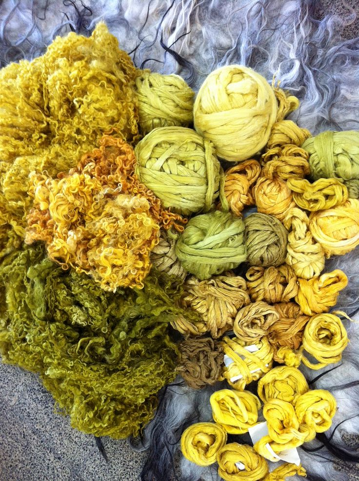 Irit Dulman used weld to create these beautiful colors. Now I really can't wait for mine to come in. And I also am more inspired to try dyeing clean fleece. The variation is a wonderful surprise. Flickr - Photo Sharing!