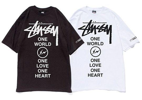 fragment design x Stussy Japan Relief T-shirt