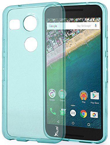 Cas De Gel Transparent Turquoise Pour Nexus Lg 5x LCevx4