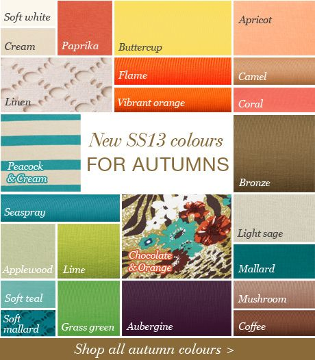 Autumn colors for SUMMER dressing wardrobe Kettlewell colors