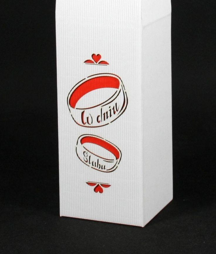 pudełka na wino w dniu ślubu