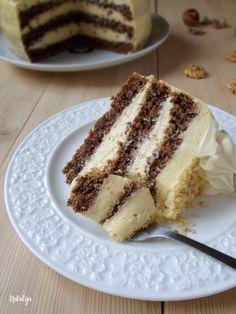 Pahuljica torta - orasi, kokos, krema od vanilije