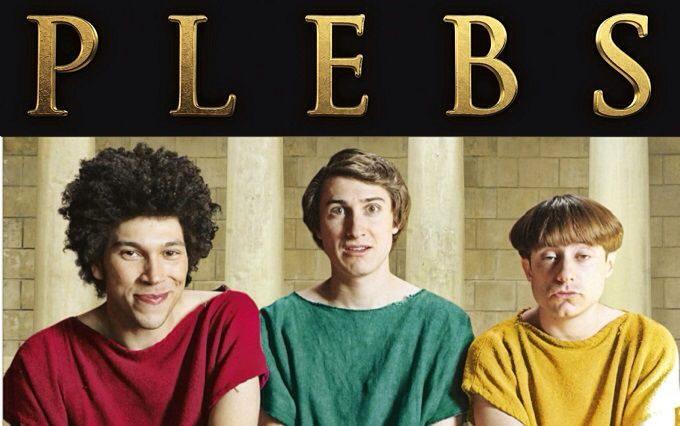 Plebs. Awesome Brit show on Hulu. It's a great, easy, funny show to watch when you want to laugh, but don't want to think too hard. Essentially, it's Friends if Friends were also an office comedy set in Ancient Rome. And it features my new crush, Joel Fry as a main character, so there's that. Salvé, Grumio!