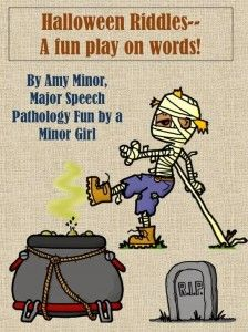Speechie Freebie of the Week: Halloween Riddles and Fun!- pinned by @PediaStaff – Please Visit ht.ly/63sNtfor all our ped therapy, school & special ed pins