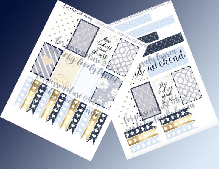 Navy Planner Stickers