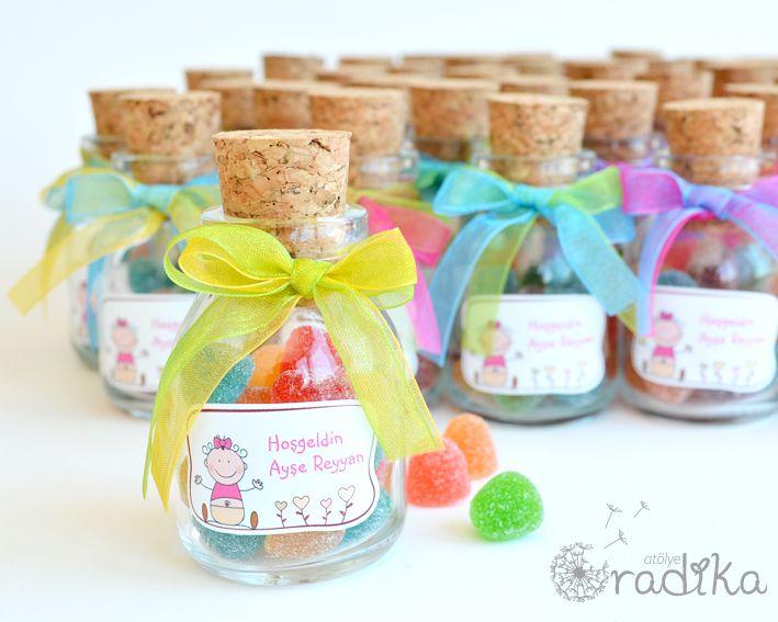 Renkli hoşgeldin bebek hediyeleri / Colorful baby shower gifts