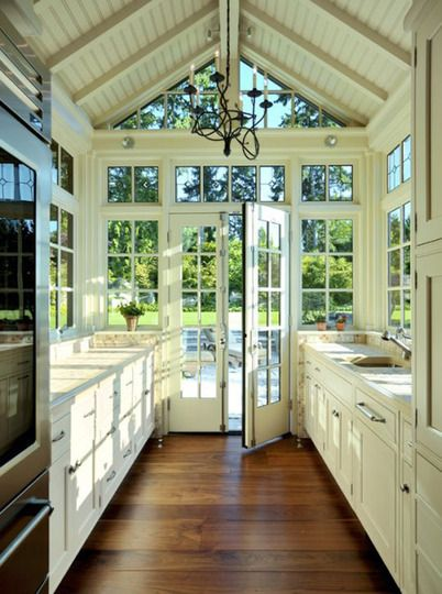 Good way to open up a galley kitchen!