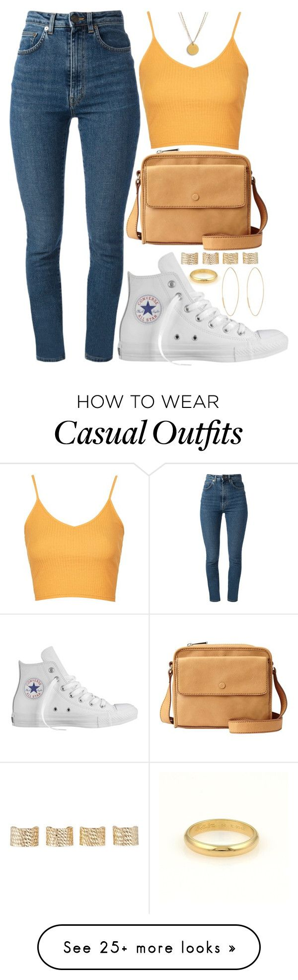 """Casual Day"" by rayray669 on Polyvore featuring Cartier, Topshop, Converse, Yves Saint Laurent, FOSSIL, Maison Margiela, Lana and Dogeared"
