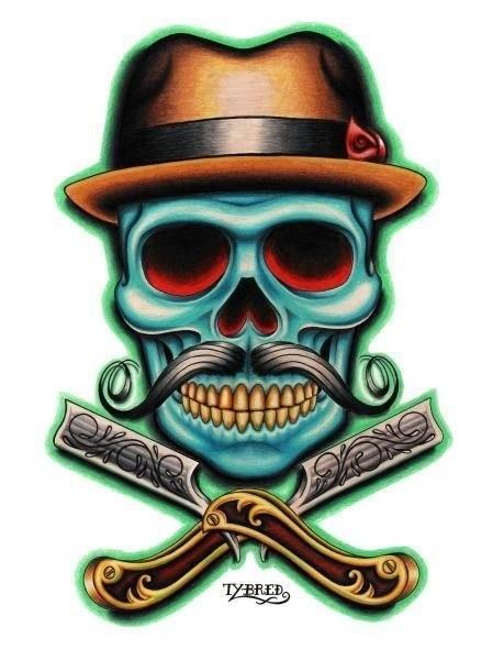 Skull Chicano Art