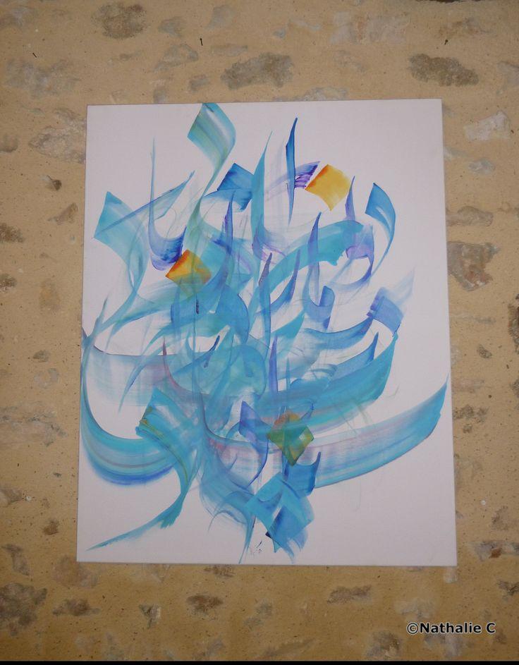 Mon tableau préférée de l'exposition d'Abdollah Kiaie