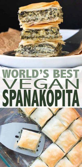 Der beste griechische vegane Spanakopita der Welt