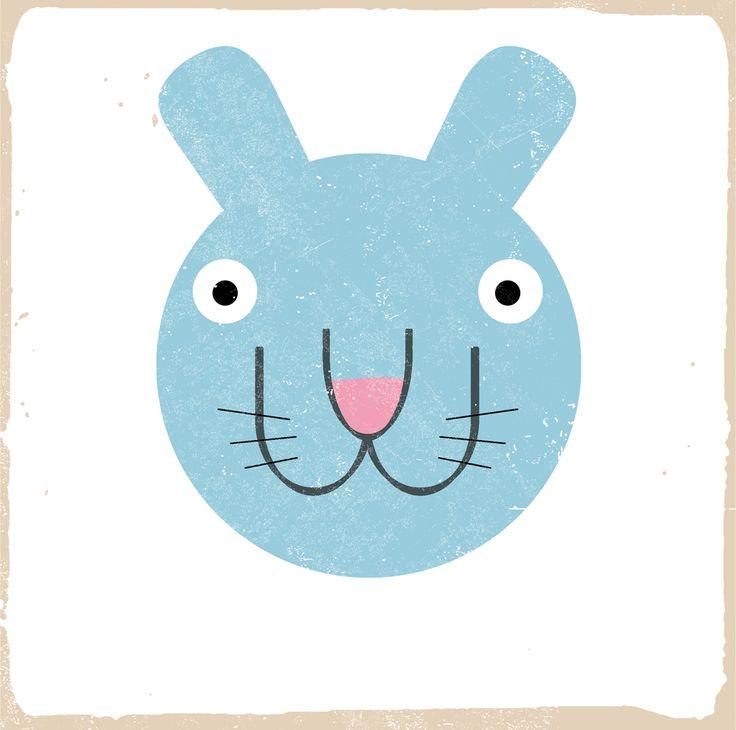 coniglio - animali da PRATI A DONDOLO #animal #illustration