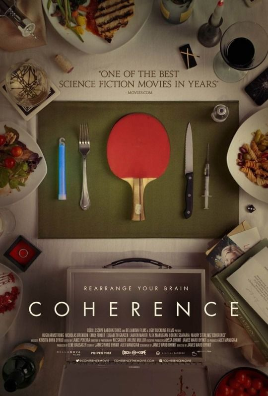 Coherence (2013)  Dir. James Ward Byrkit  Emily Baldoni, Maury Sterling, Nicholas Brandon