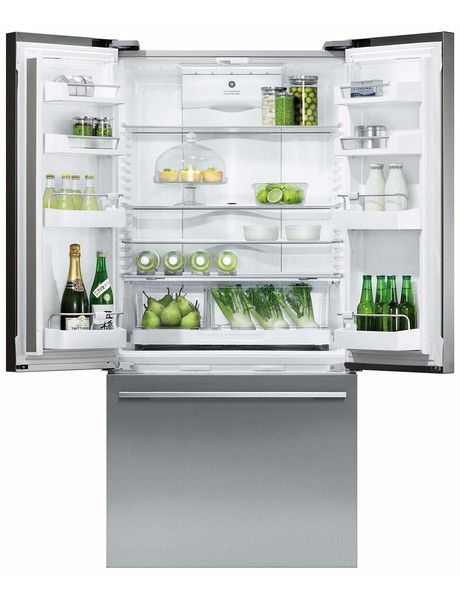 Maximise space and access with this French Door fridge freezer, that gives you unobstructed access to wide-open shelf spaces. Below,a spacious full-extension drawer and storage bins provide ergonomic solutions for freezer items.