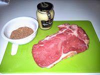Bistecca di manzo al rub e senape di digione