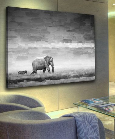 Another great find on #zulily! Elephant Gallery-Wrapped Canvas by Parvez Taj #zulilyfinds