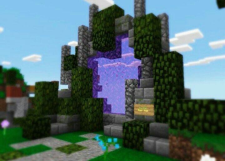 Minecr4ft biome nether portal entrance minecraft for Minecraft foyer ideas