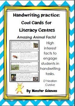 Amazing Animal Facts - Fun handwriting practice - Foundation