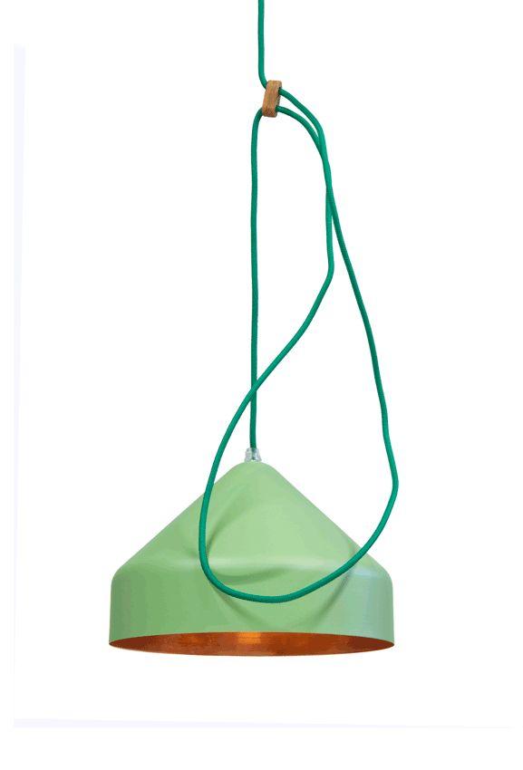 Llus lamp koper bleek groen/koper - Ontwerplabel Vij5 - BijzonderMOOI* - Dutch design