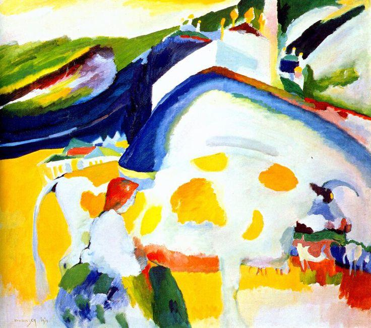 Vassily Kandinsky, 1910 - The Cow - Wassily Kandinsky - Wikipedia, the free encyclopedia