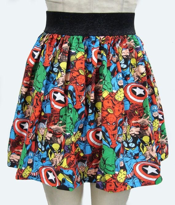 Superhero Comic Book Skirt by GoFollowRabbits on Etsy