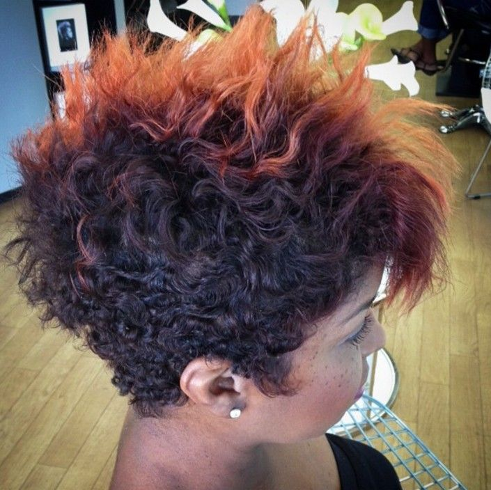 Curly, Messy and Spiky Pixie Hairstyle