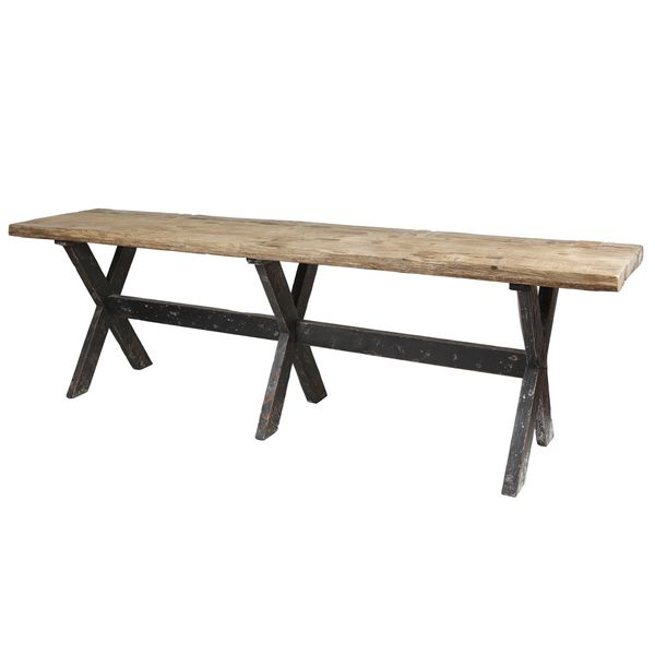 Create a rustic space where your guests feel right at home with this gorgeous Isabella gathering table. Featuring a beautiful distressed finish, this dining table is crafted from reclaimed wood and fe