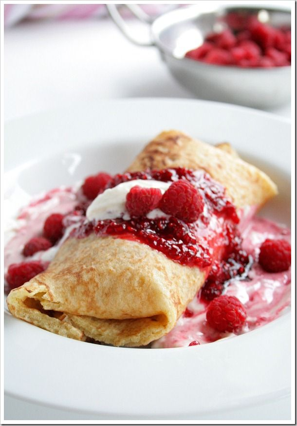 Raspberry And Nutella Crepes Recipe — Dishmaps