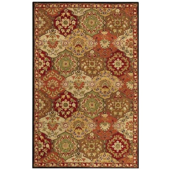 Home Decorators Collection Grandeur Red Multi 9 ft. x 12 ft. Area Rug - 167360110 - The Home Depot
