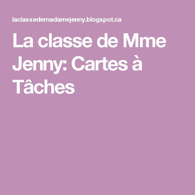 La classe de Mme Jenny: Cartes à Tâches