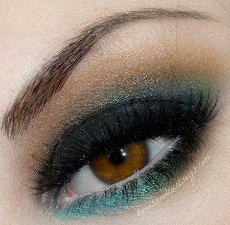 I think green does magic for brown eyes