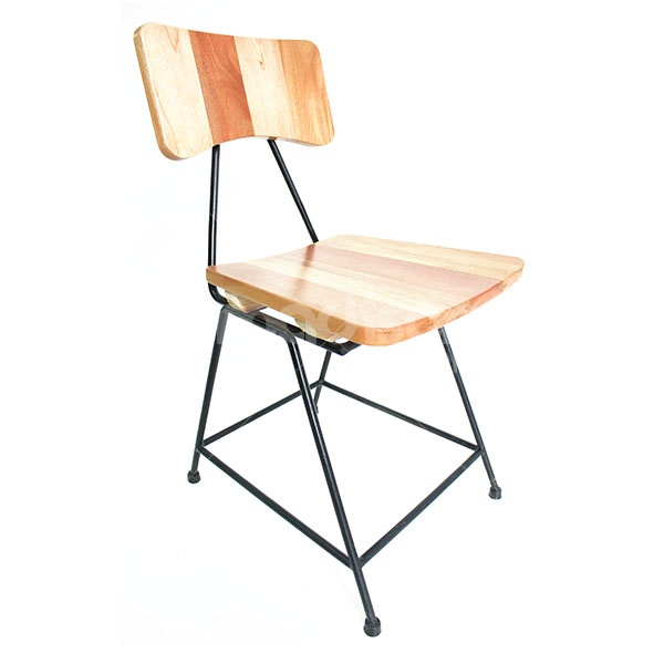 Retro Chair with Multi-Paneled Wood and iron leg  at www.2madison.com  Designer : Madison  Collection : The Soho Series