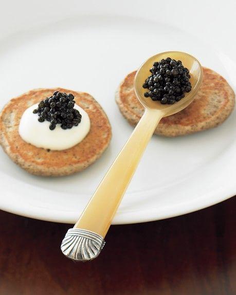 Silver Tipped Caviar Spoon