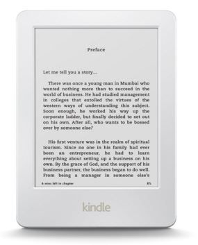 Amazon Introduces White Touch Screen Kindle eReader at Rs.5,999