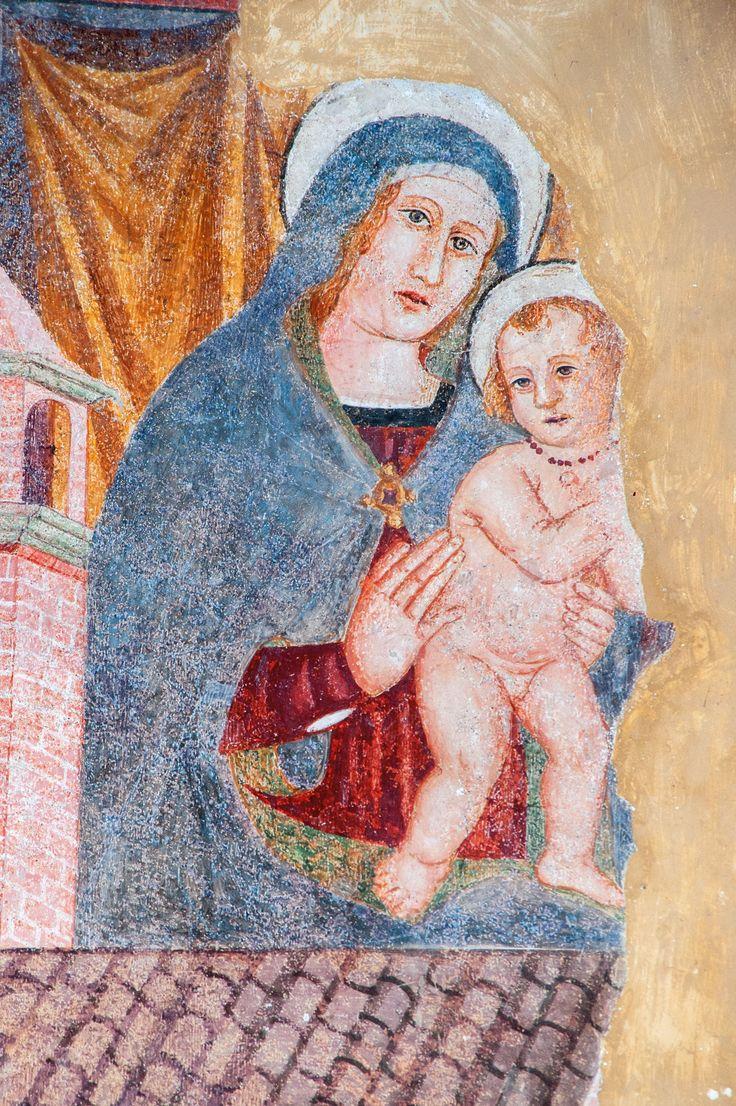 Madonna di Loreto con Bambino e la santa casa (1528) Monteleone di Spoleto, Chiesa di S. Francesco