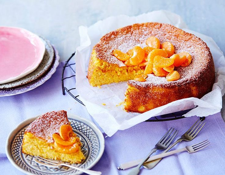 You'd better make double of this amazing Mandarin & Almond Cake! Dust with icing sugar and decorate with mandarins to serve this dessert recipe by IGA.