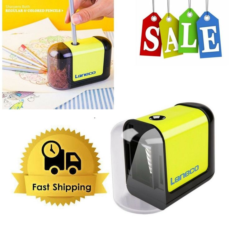 Electric Pencil Sharpener Heavy Duty Helical Blade For Classroom Office Artists  #Laneco