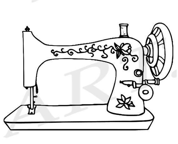 50 Off Sewing Machine Clipart Sewing Machine Clip Art Etsy Sewing Machine Drawing Sewing Clipart Vintage Sewing Machines