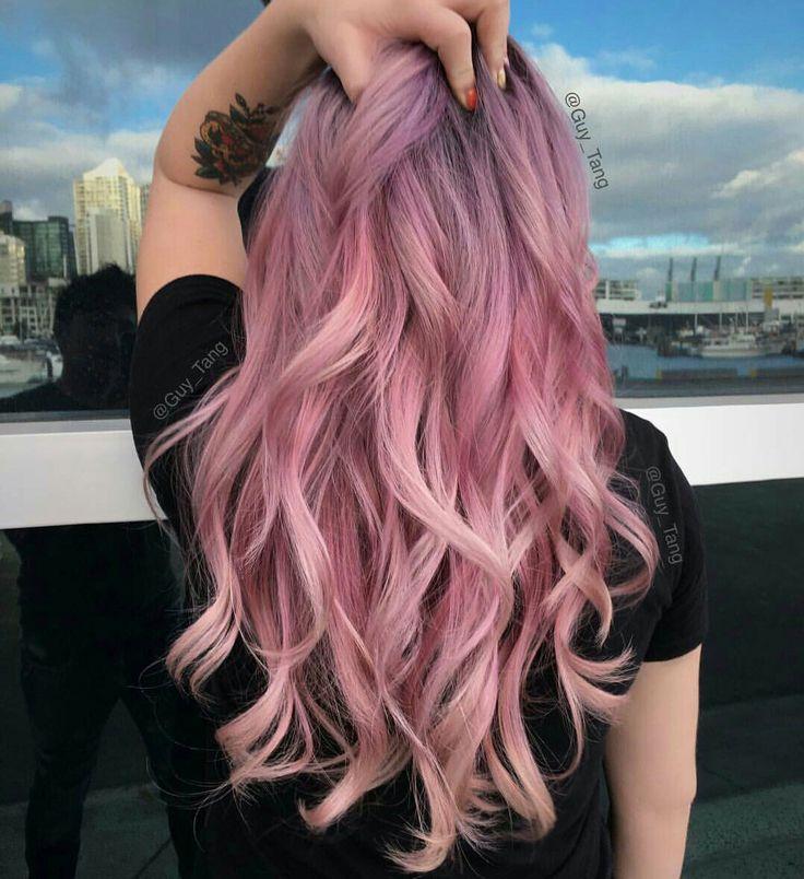 Картинка розовых волос сзади