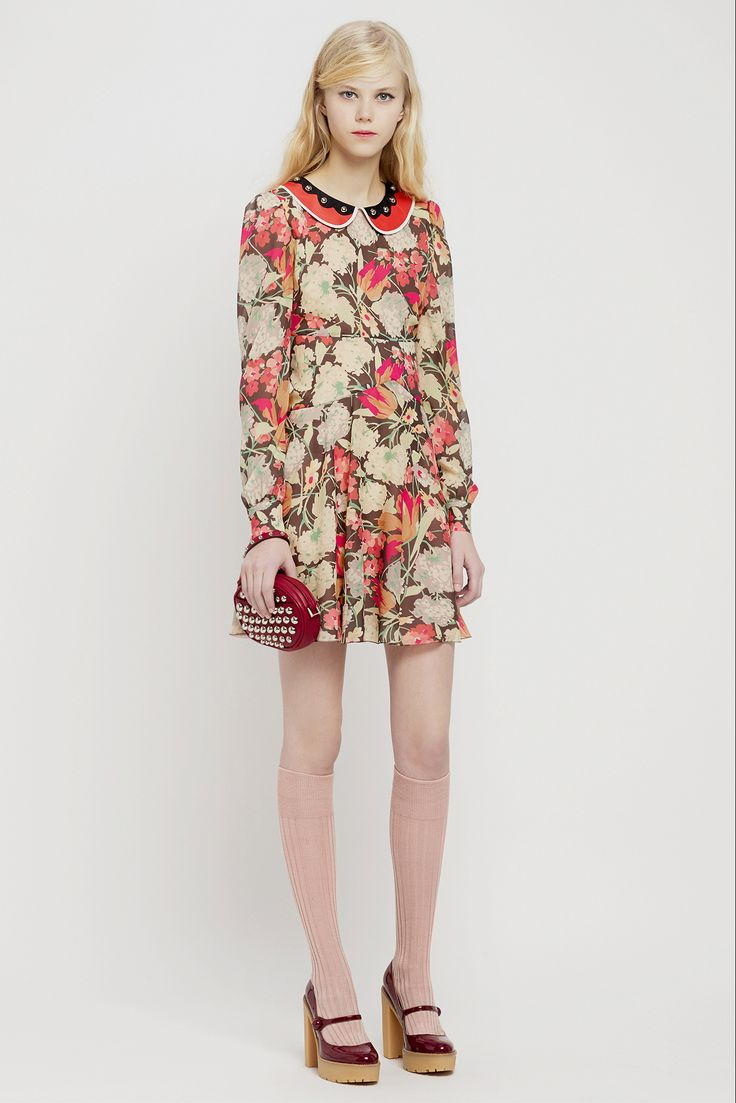 Dress for Women, Evening Cocktail Party On Sale, Red Valentino, Cream, Cotton, 2017, 10 6 Valentino