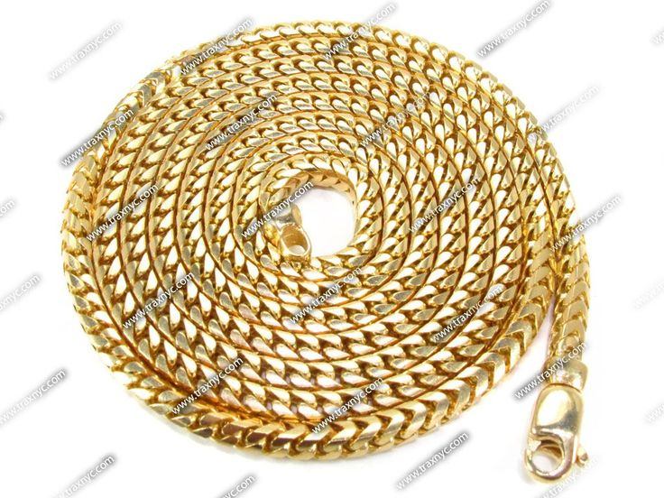 14K Yellow Gold Franco Chain 30 Inches 5mm 60 Grams Mens Gold Chain Yellow Gold 14k - TraxNYC.com