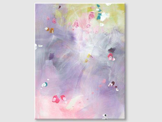 Abstract painting by Svetlansa #painting #abstract #svetlansa #homedecor #pink  #violet #green #artwork #wallart  #abstractart