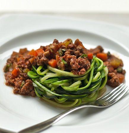 Healthier Courgetti Spaghetti Bolognese Recipe - Quorn